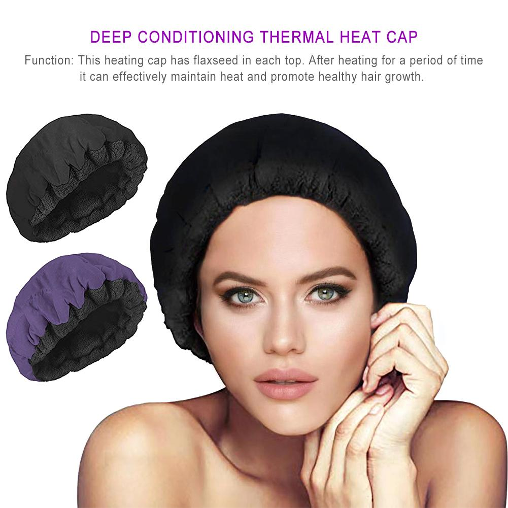 Tapón de vapor de calor para acondicionamiento profundo, Micro gorro para el pelo, gorro térmico duradero para el tratamiento del cabello, herramientas de estilismo para el cabello