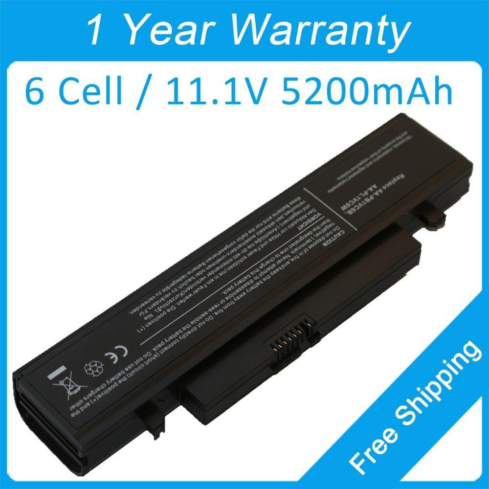 5200 mah batería del ordenador portátil para samsung NP-N210P NT-NB30P NT-N220P N218 N210 N220 NB30 más AA-PL1VC6B AA-PL1VC6B/E