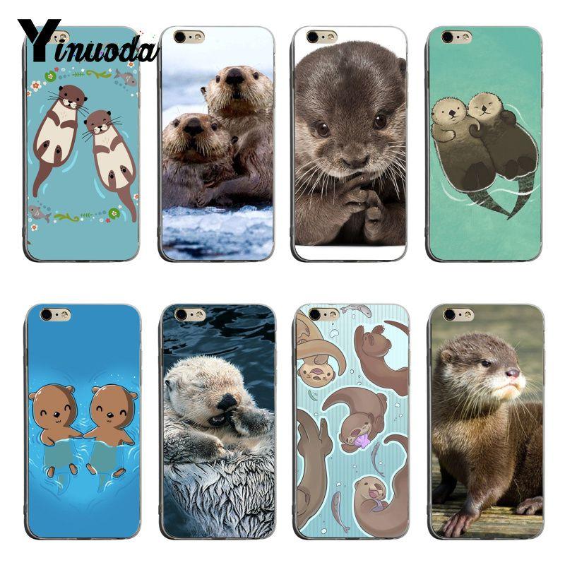 Yinuoda Animal bebé lindo nutria suave tpu cubierta de la caja del teléfono para iPhone 6plus, 6s 7plus 8plus X XS X XR Coque Shell