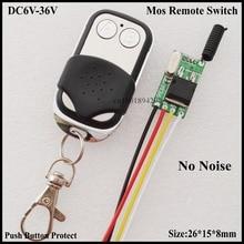 Без шума Mos дистанционный переключатель Микро беспроводной переключатель освещения 6 в 7,4 в 9 в 12 В 14 в 18 в 24 в 28 в 36 в автомобильный Грузовик Мо...