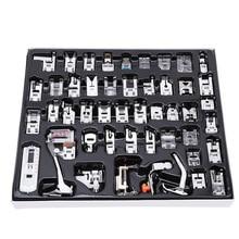 48 Uds Mini prensatelas para máquina de coser pies para Brother Singer Presser pies trenzado punto ciego accesorios de zurcido