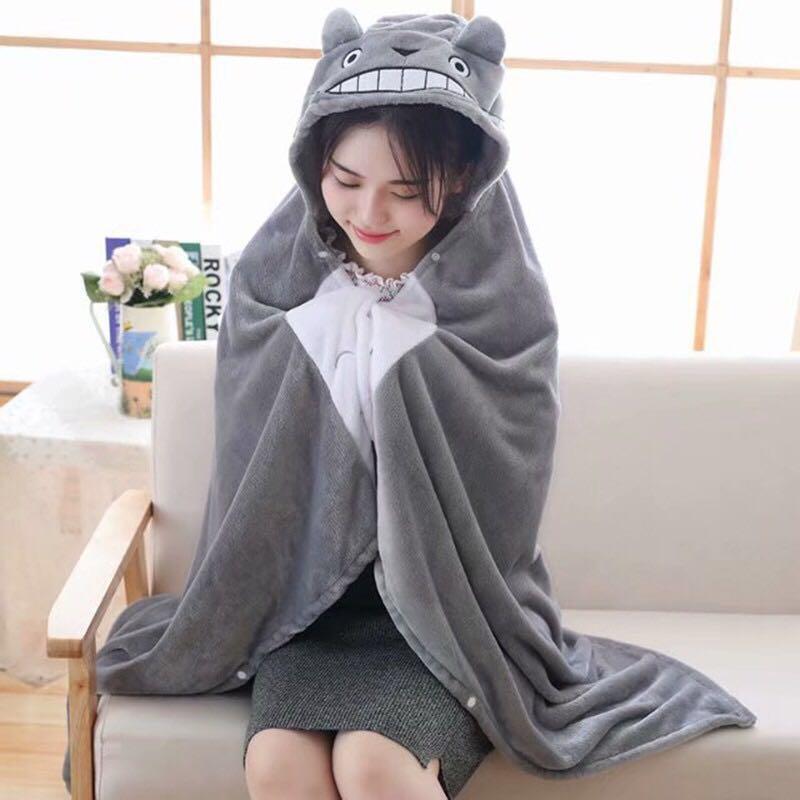 1.7 m * 0.9 m meu vizinho totoro cobertor, escritório dos desenhos animados toroto pelúcia brinquedos cobertor, cosplay capa cobertores de ar, presente de aniversário