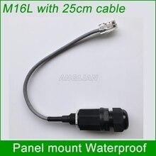M16 RJ45 Netwerk connector met 25 cm kabel Panel mount IP67 Bescherming waterdichte Outdoor AP box interface shield 1 unit