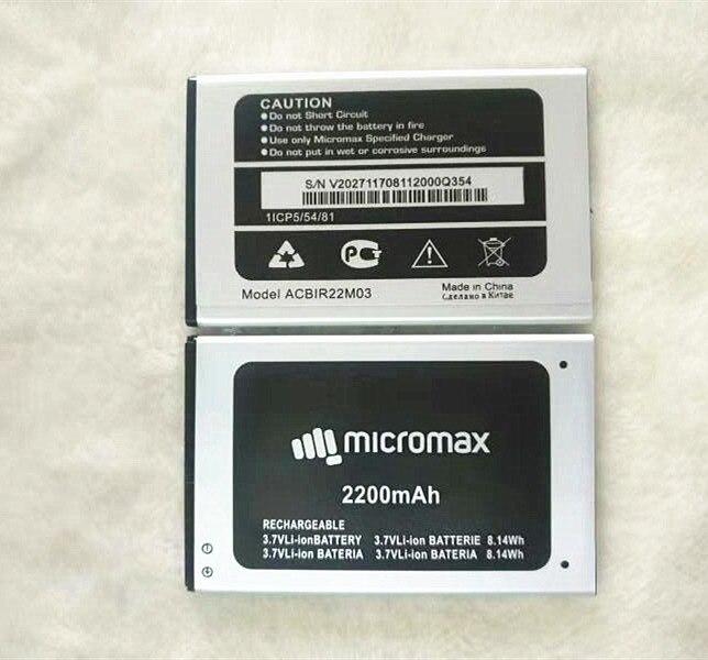 Новый Сменный аккумулятор Q354 Для Micromax Q354 ACBIR22M03, батарея для смартфона 3,7 в, 2200 мАч, высокое качество