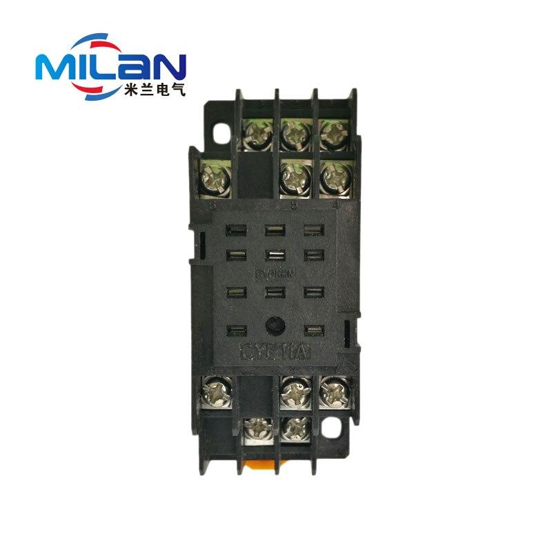 1 Uds PYF11A base de relé medio de 11 pies zócalo base de relé pequeño para HH53P/MY3NJ