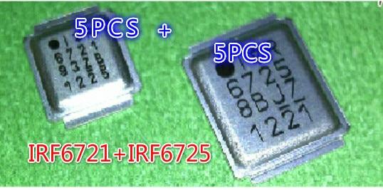 IRF6721 5 piezas + IRF6725 5 piezas) IRF6721 IR6721 IRF6725 IR6725