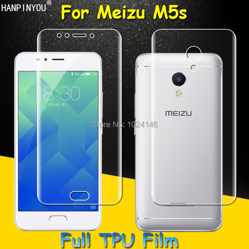 Front / Back Full Coverage Clear Soft TPU Film Front Screen Protector For Meizu M5s 5.2