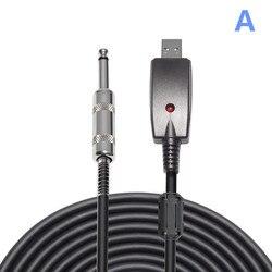 Кабель для музыкальных инструментов USB до 6,35 кабель для электрогитары совместимое игровое устройство PS2 PS3 WII XBOX host USB кабель для гитары