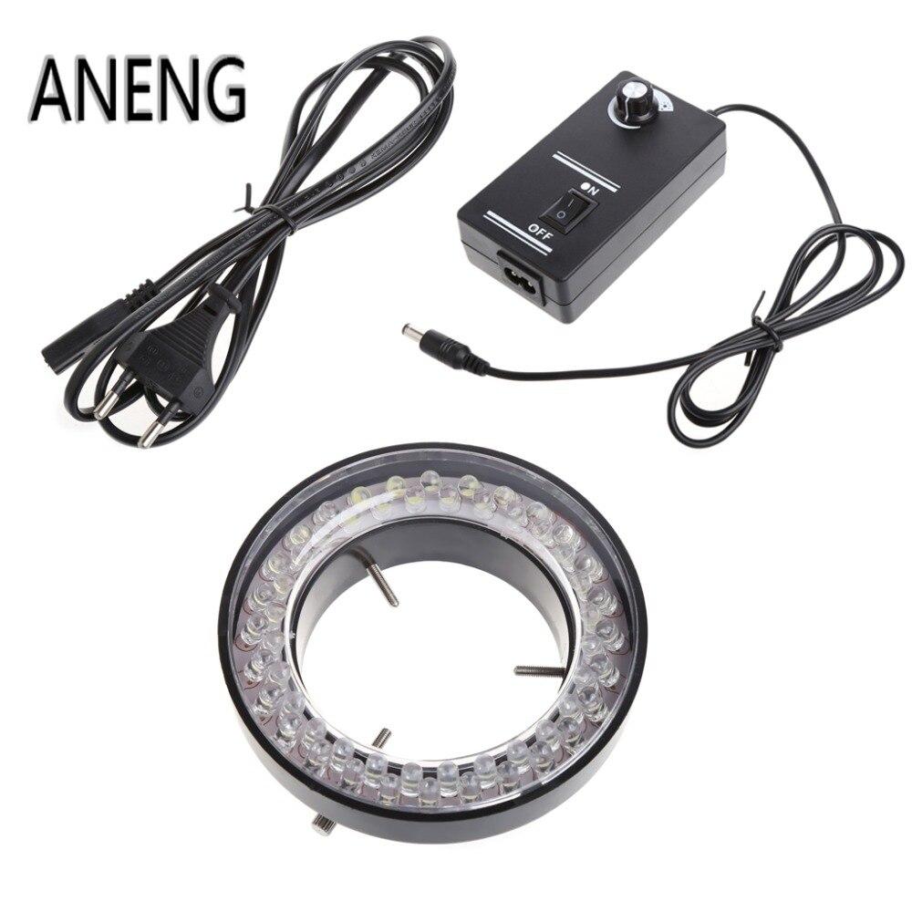 Lampe dilluminateur de lumière annulaire réglable ANENG 60 LED pour Microscope à ZOOM stéréo