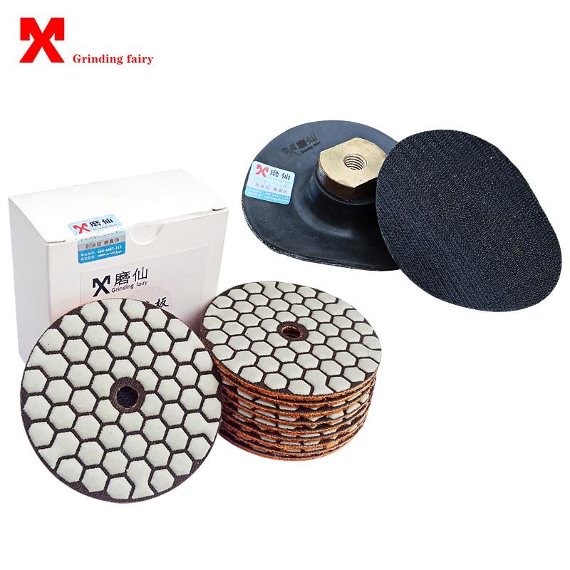 Шлифовальные диски, абразивный диск 3 дюйма 4 дюйма для шлифовки бетона, мрамора, 80 мм 100 мм, инструменты для полировки