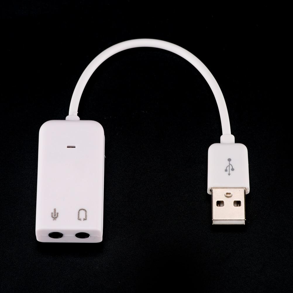 USB 2,0 Виртуальный 7,1 канальный Внешний USB Аудио Звуковая карта адаптер Звуковые карты для ноутбука ПК Mac с кабелем 18,5 см