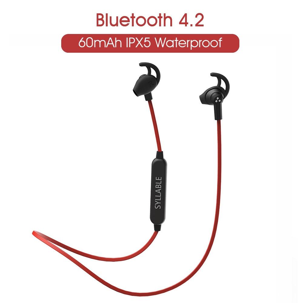 Sílaba Bluetooth 4,2 Auriculares auriculares deportivos inalámbricos con micrófono estéreo auriculares para teléfono iPhone auriculares Bluetooth deporte SF801