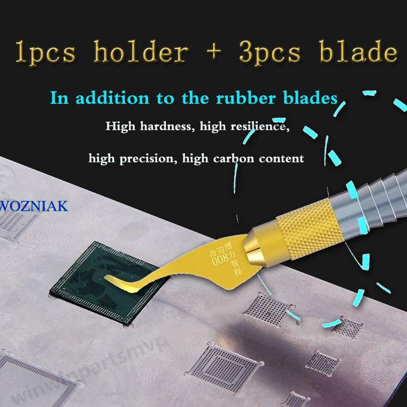 Wozniak qianli quitar el pegamento cuchillo placa base Reparación de IC hoja CPU cuchillo A8 A9 desmontar Chip herramienta