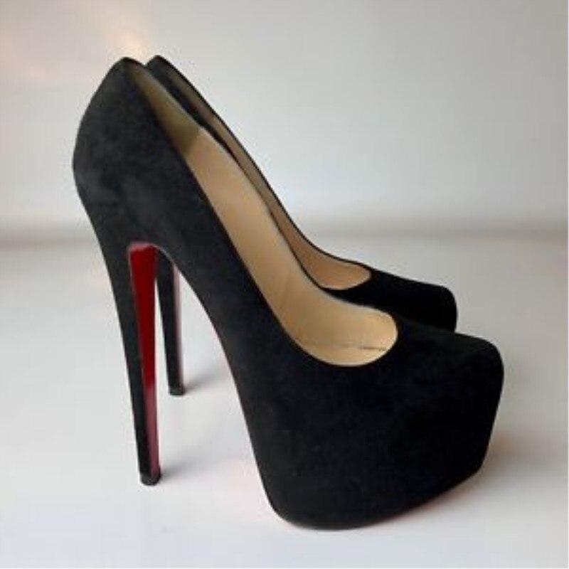 عالية الكعب 15 سنتيمتر للماء أحذية نسائية حزب أحذية الزفاف للمرأة مشبك نمط زائد حجم