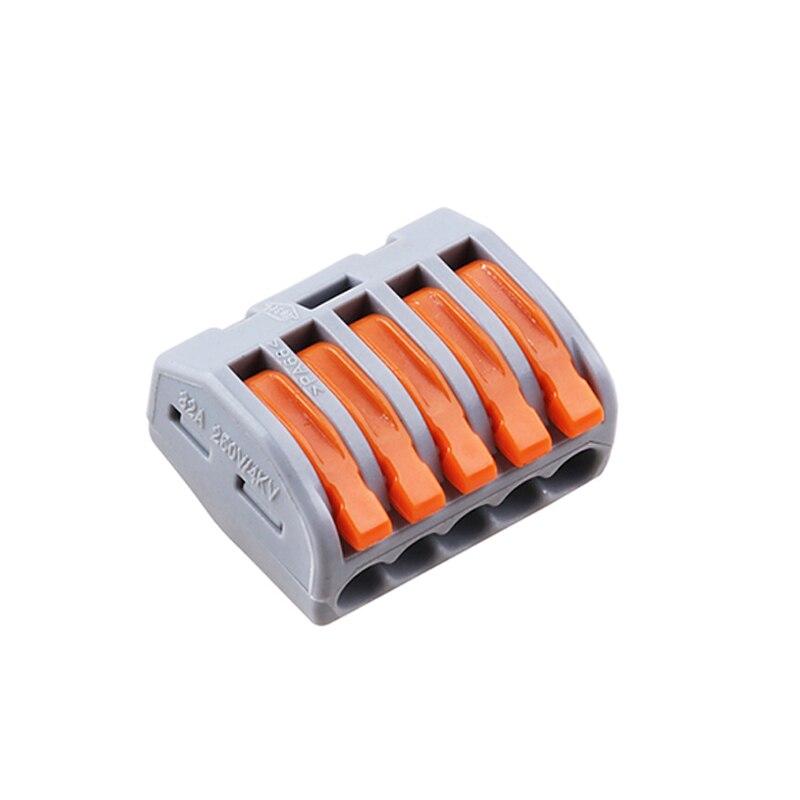 Nuevo 10 unids/lote Mini conector de cable rápido PCT (222)-215, Conector de cableado compacto universal 3 Pin Push-In bloque de conectores