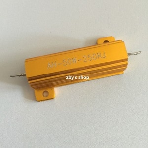 Gold Tone Wirewound Aluminium Housed Power Resistor 5% 50 Watt 250 Ohm