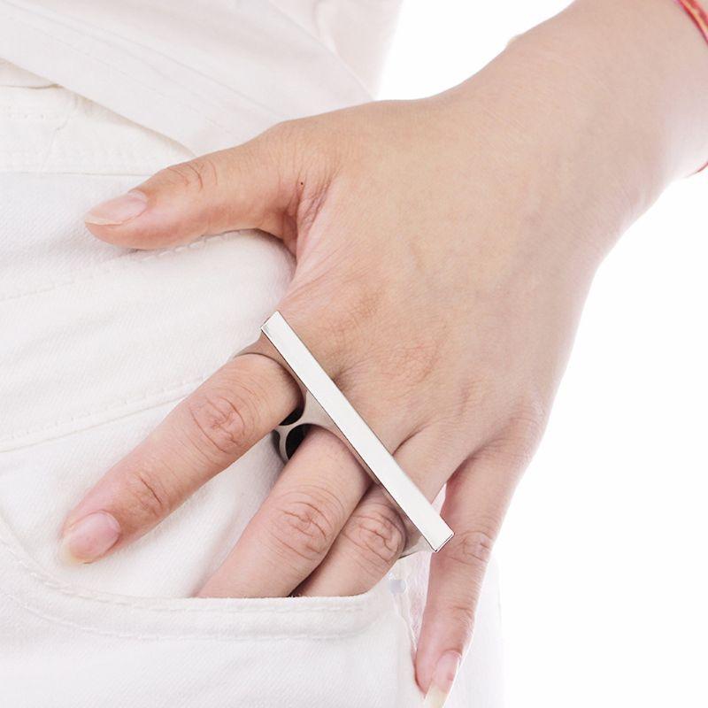 Hot 2020 Hip Hop Biker mexicano Triple dedos anillos banda Simple Unisex joyería de moda regalos
