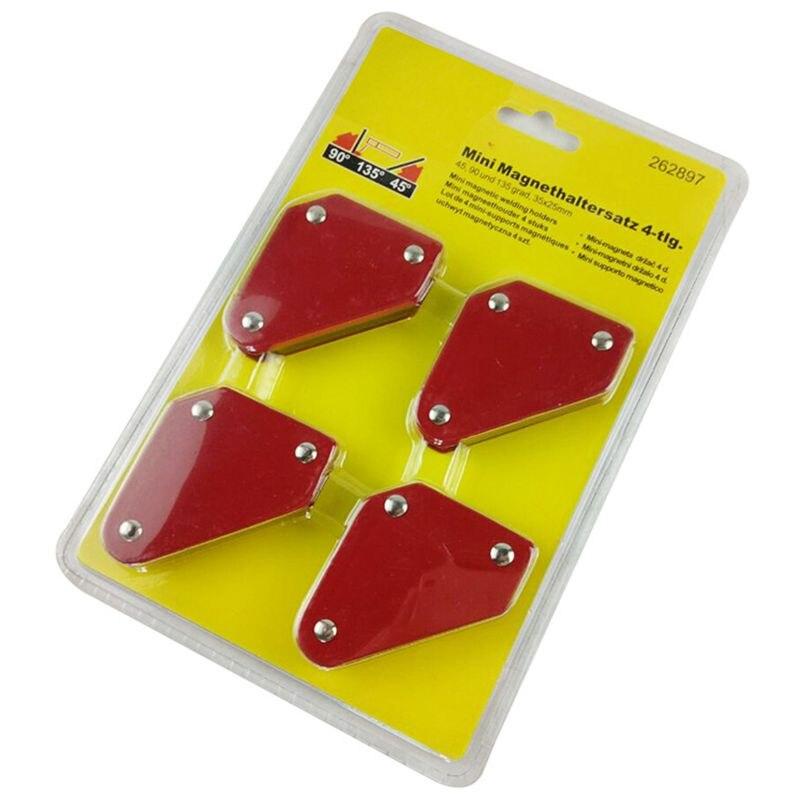 Offre spéciale 4 pièces/ensemble Mini positionneur de soudage Triangle 9Lb outils de localisation de soudure à Angle fixe magnétique sans interrupteur de soudage Ac