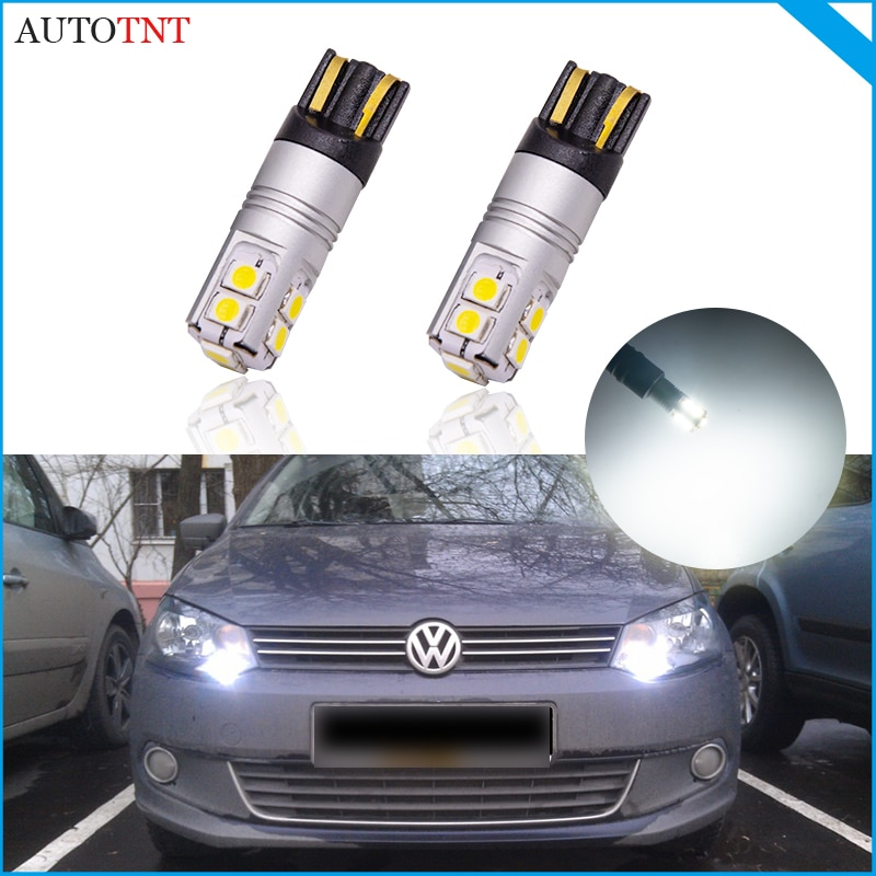 2pcs T10 W5W 194 168 LED lamp canbus no error for Volkswagen vw Jetta 1 2 3 4 Wagon MK4 MK5 Scirocco R Sharan Touareg Touran UP!