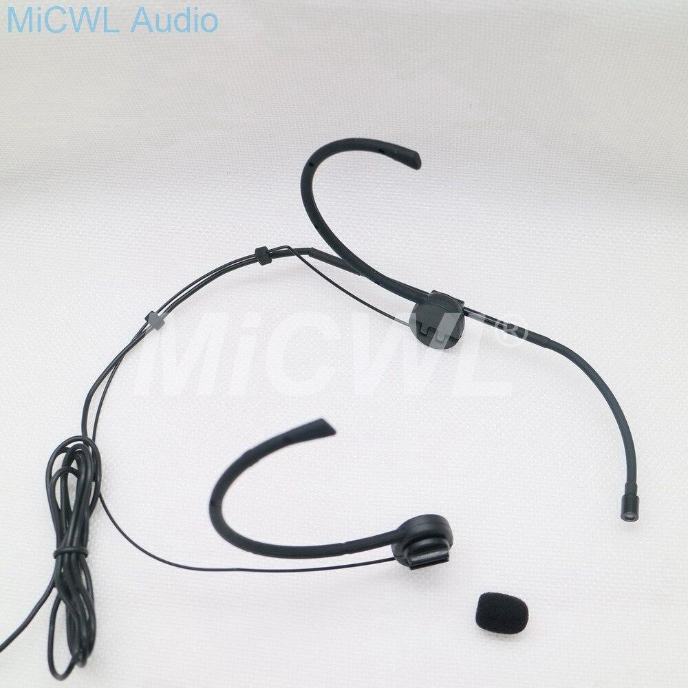 Micrófono omnidireccional plegable de alta calidad, micrófono ajustable para auriculares Sennheiser Shure AKG Audio Technica negro