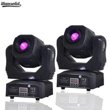 2 pièces offre spéciale Mini Spot 60W LED lampe frontale mobile avec plaque de Gobos et plaque de couleur, haute luminosité 60W Mini Led lumière de scène DMX512