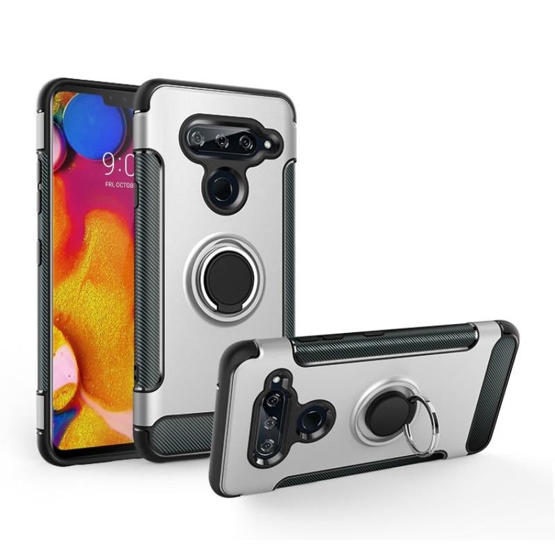 Carcasa V50 para LG V50 ThinQ 5G armadura de la cubierta del caso anillo de protección completa magnetismo soporte carcasa trasera de teléfono para LG V50 ThinQ Coque