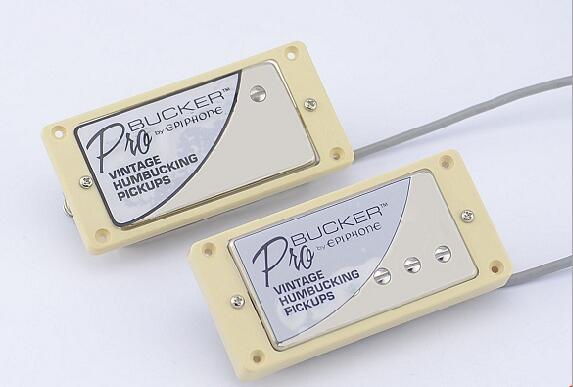 Set cromado LP estándar ProBucker N y B guitarra eléctrica Humbucker Pickups con arnés de cableado Pro para cubierta EPI silver