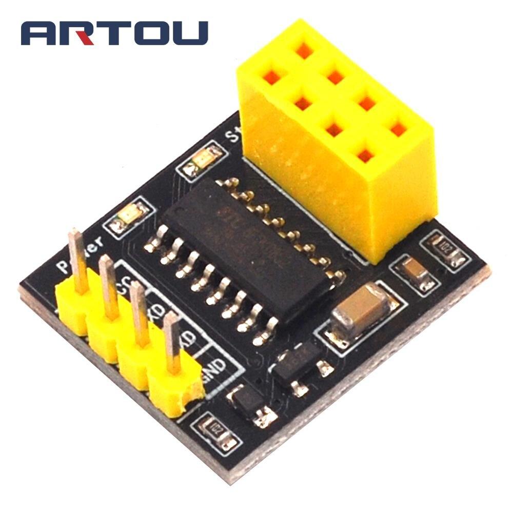 Tablero adaptador de módulo de puerto serie TTL de comunicación inalámbrica de un solo chip 51 no incluye módulo inalámbrico NRF24L01