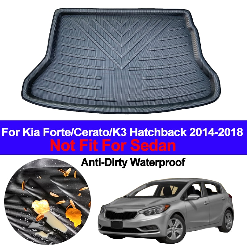 Maletero trasero forro de carga bandeja maletero equipaje suelo alfombra alfombrilla para Kia Forte Cerato K3 Hatchback 2014 2015 2016 2017 2018