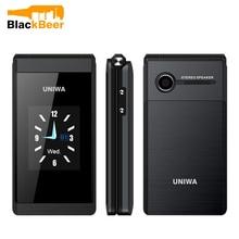 UNIWA X28 X18 플립 GSM 핸드폰 1.77,2.8 인치 듀얼 디스플레이 듀얼 SIM 수석 전화 무선 블루투스 FM 휴대 전화 노인