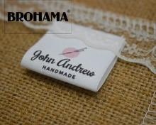 Étiquettes à coudre/étiquettes de marque personnalisées, étiquettes de vêtements, tricot, tissu 100% coton, impression de haute qualité (MD543)