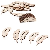 25pcs feather shape wood slices embellishments wedding party festival event table decorations wedding confetti