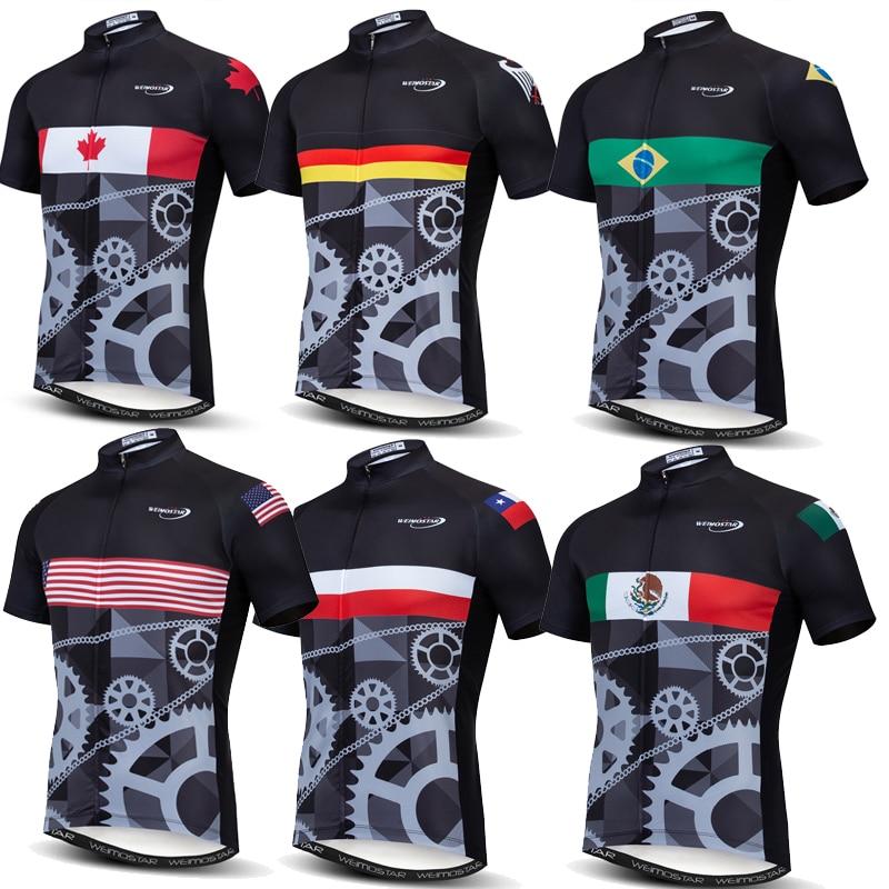 Camiseta de Ciclismo Weimostar 2019 Pro Team Canada Chile Italia México carreras deporte mtb bicicleta Jersey Ropa superior Ciclismo