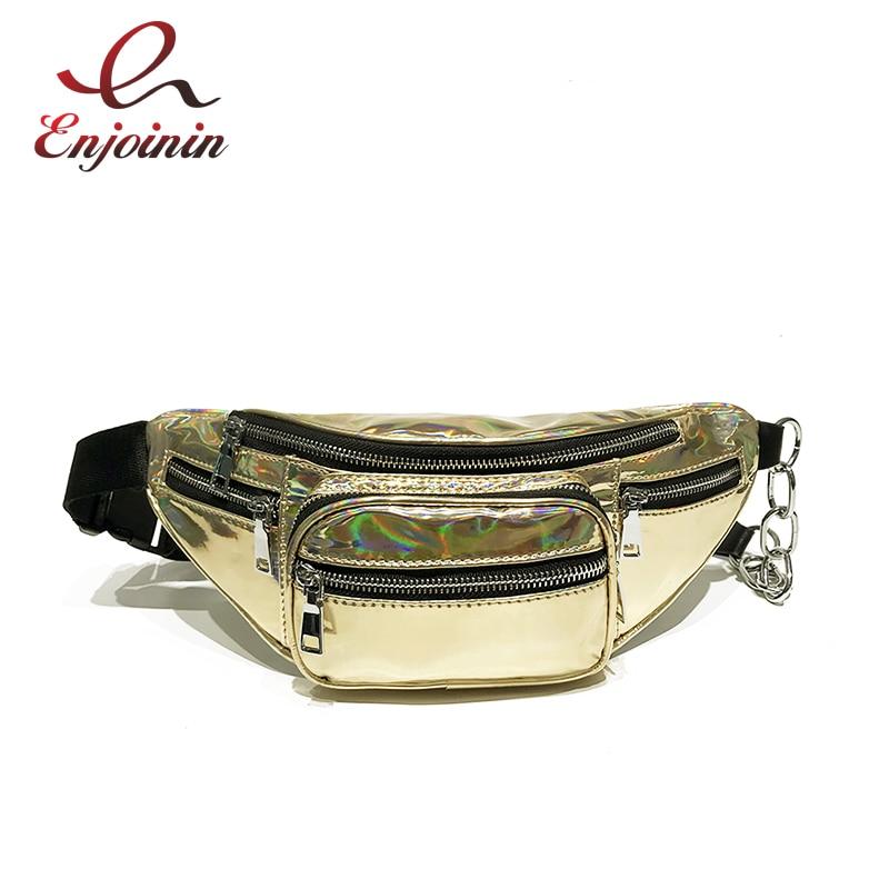 Nueva riñonera a la moda para mujer, cuero sintético cortado por láser, riñonera, bolsos cruzados, carteras, 4 colores