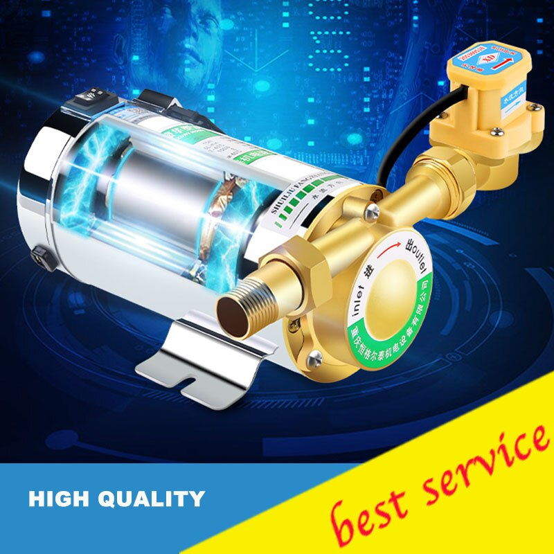 Bomba de presión de circulación de agua para calefacción de ducha, nueva bomba de agua de 100W