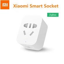 Xiaomi Mi prise WiFi intelligente Zigbee Version APP télécommande minuterie prise dalimentation prise de détection de puissance travail avec passerelle Hub