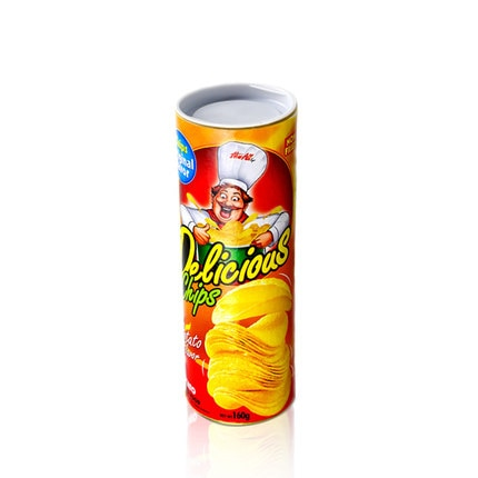 Patatas fritas a snake shoking people snake de chip barrel juguete para trucos de magia, accesorios