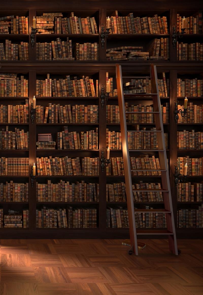 HUAYI художественный тканевый фон для фотосъемки школьный студенческий фон для студийного книжного шкафа библиотеки фотосессии реквизит ...