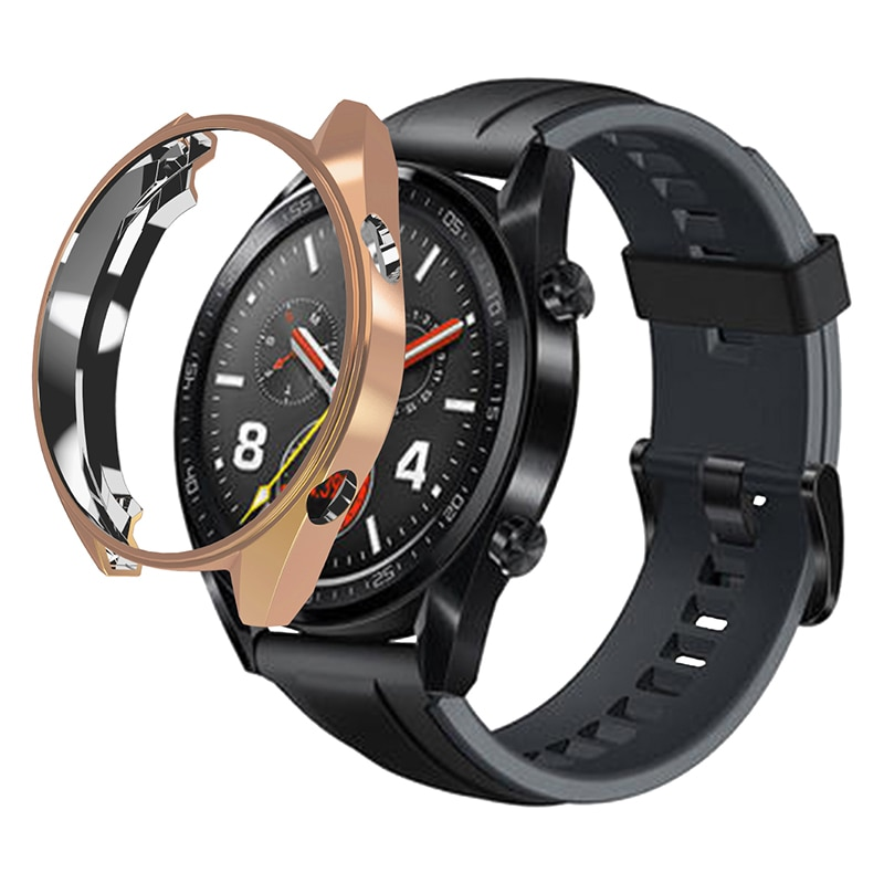 Funda protectora para Huawei Watch GT Pantalla Completa Protector Electroplate manga placa carcasa para reloj Huawey GT a prueba de golpes