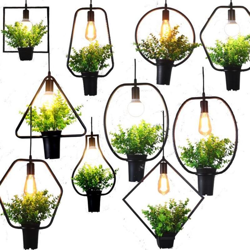 LuKLoy-مصباح معلق بالزهور والعشب ، تصميم حديث ، إضاءة داخلية مزخرفة ، مثالي لغرفة المعيشة أو الشرفة أو المقهى.