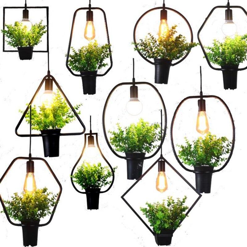 LuKLoy Современная оправа, легкие травяные горшки для растений и цветов, подвесной светильник, Подвесная лампа для дома, балкона, кафе, гостиной, для выращивания трав или суккулентов