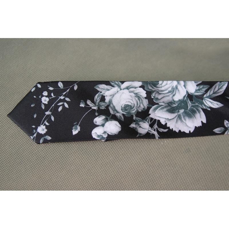2019 New Floral Print Men's Neck Tie Fashion 6CM Slim Tie Romantic Wedding Groom Casual Party Neck Tie for Men with Gift Box