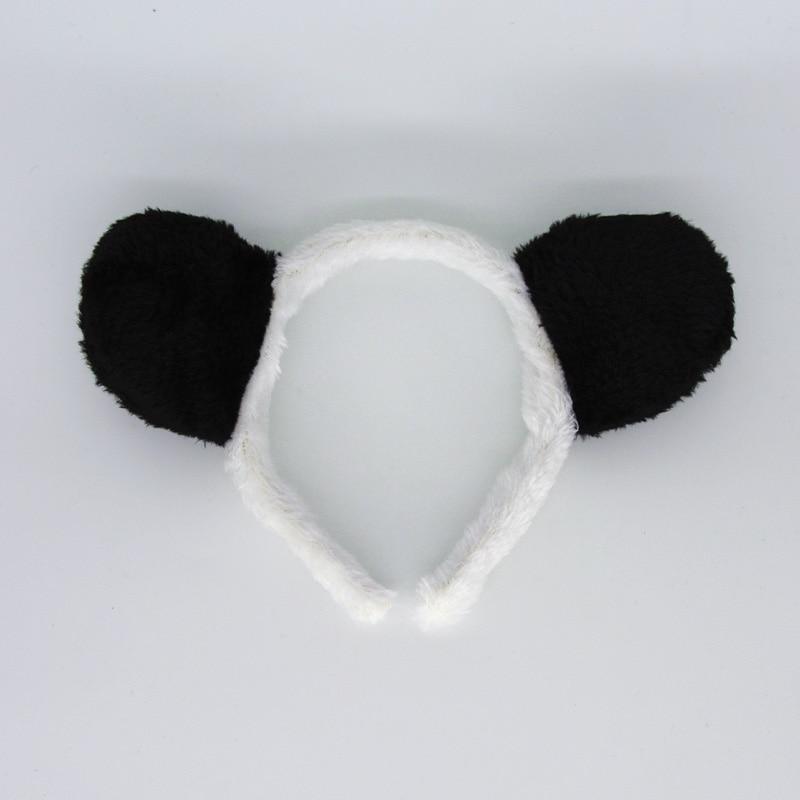 Kids Adult Black White Panda Headband Hair Band Animal Ear Cosplay Hair Accessories Party Favors Gift  Halloween