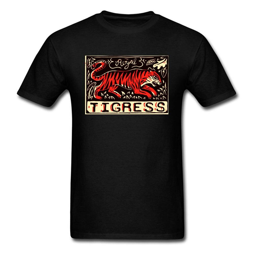 Tigress Linocut, camiseta de diseño para mujer, camiseta negra para hombre, ropa con estampado Animal, Tops de algodón, camiseta de Hip Hop Crazy Summer