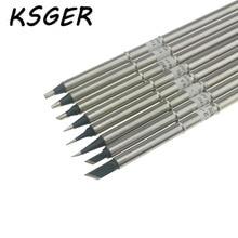 KSGER Black XA-Grade Lead-Free T12-K T12-ILS T12-J02 KU BC2 D16 D24 BL Electric Soldering Iron Tips For FX951 Soldering Station