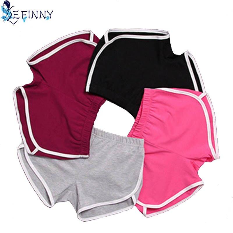 Novo 1 pçs verão shorts feminino esportes shorts treino cintura magro curto