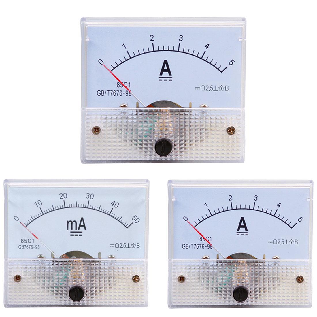 DC Panel de medición de corriente analógica 5A 10A 15A 20A 30A 50A 100A indicador corriente amperímetro mecánico herramientas de medición