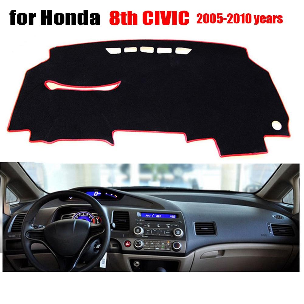 Cubiertas de salpicadero de coche para Honda Old Civic 2005 a 2010 mano izquierda drive dash mat cubre Auto dashboard protector Accesorios