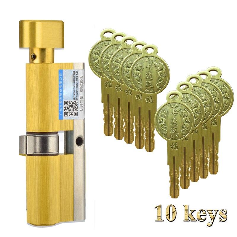 105/110 pojedynczy widoczny duży 70/75/65 duży gurda Super C poziom bezczynności antykradzieżowe drzwi blokada rdzenia drzwi uniwersalny typ klucz pokrętło Cylinder