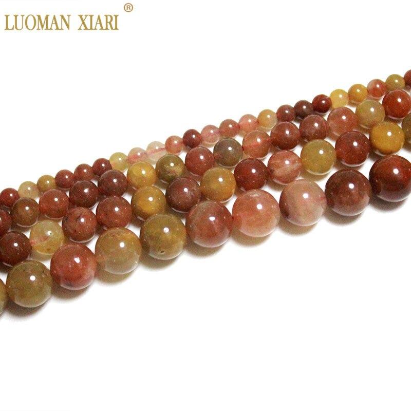 Fino AAA 100% rojo Natural Fukurokuju cuentas redondas de piedra de cristal para fabricación de joyería DIY pulsera collar 4/6/8/10mm hebra 15